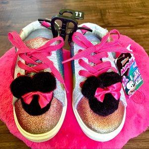 NWT😍Disney Toddler-Girls Minnie Glitter sneakers